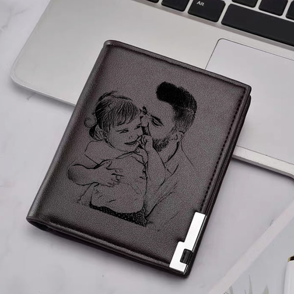 Double-Sided Photo Ultra Thin Vertical Men's Wallet